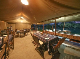 Tented camp in the Serengeti