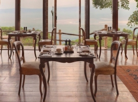 Crater Lodge at the edge of Ngorongoro  Crater